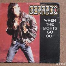 Discos de vinilo: GERARDO - WHEN THE LIGHTS GO OUT (DR.FREEZE MIX + LP VERSION). Lote 75836871