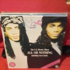 Discos de vinilo: MILLI VANILLI ?– ALL OR NOTHING - THE U.S. REMIX ALBUM. Lote 75837399