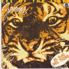 Discos de vinilo: SINGLE SURVIVOR.EYE OF THE TIGER. VINILO COMPROBADO Y BIEN, CARÁTULA PERFECTA. Lote 75895723