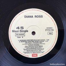 Discos de vinilo: DIANA ROSS - WORKIN' OVERTIME . 1989 EMI. Lote 75897043