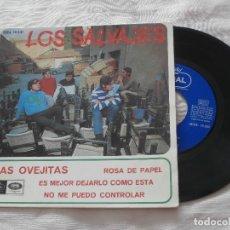 Discos de vinilo: LOS SALVAJES 7´EP LAS OVEJITAS + 3 TEMAS (1967) *COMO NUEVO* - SIN PINCHAR -. Lote 75911971