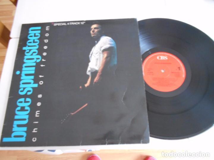 BRUCE SPRINGSTEEN- MAXI CON 4 TEMAS-CHIMES OF FREEDOM-ESPAÑOL 1988 (Música - Discos de Vinilo - Maxi Singles - Pop - Rock Internacional de los 70)