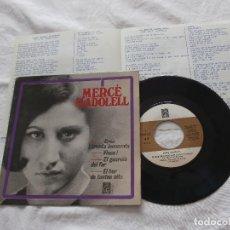 Discos de vinilo: MERCE MADOLELL 7´EP EK BAR DE TANTES NITS + 3 TEMAS (1966) MUY BUEN ESTADO - CANTADO EN CATALAN. Lote 75918199