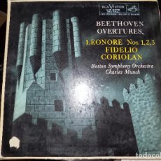 Discos de vinilo: BEETHOVEN OVERTURES. LEONORE NOS. 1, 2, 3. FIDELIO CORIOLAN.. Lote 75975567