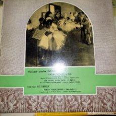 Discos de vinilo: WOLFGANG AMADEO MOZART, LUIS VAN BEETHOVEN. . Lote 75976959