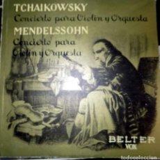 Discos de vinilo: TCHAIKOWSKY. CONCIERTO PARA VIOLIN Y ORQUESTA. MENDELSSOHN. BELTER. Lote 75977623