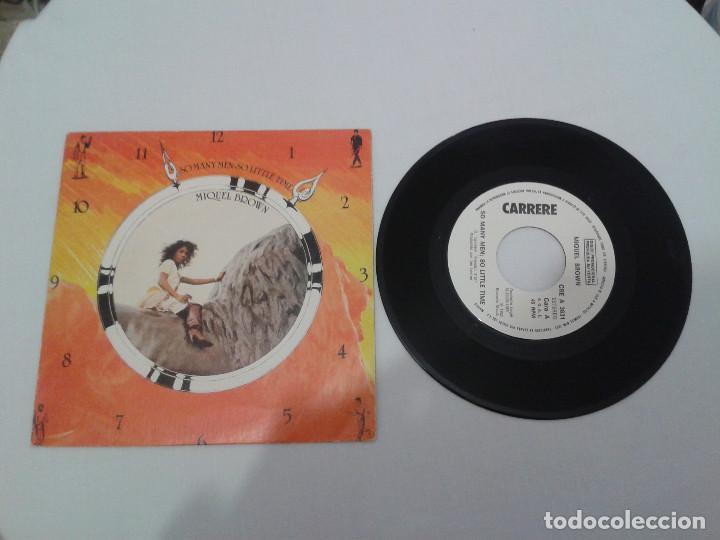 VINILO - SINGLE - PACK DE 3 SINGLES - MIQUEL BROWN - LIME - GONZALO - AÑOS '80 (Música - Discos de Vinilo - Singles - Pop - Rock Internacional de los 80)