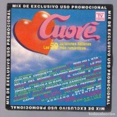 Discos de vinilo: VARIOS - CUORE MIX (SINGLE 7'' PROMO 1992, DIVUCSA PSN-261). Lote 76019511