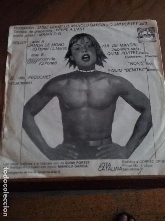 Discos de vinilo: KUL DE MANDRIL JAMON DE MONO DISCOS KRIMINALES - Foto 9 - 65955998