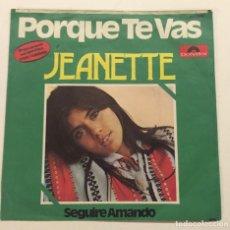 Discos de vinilo: JEANETTE - POR QUE TE VAS. Lote 76025783