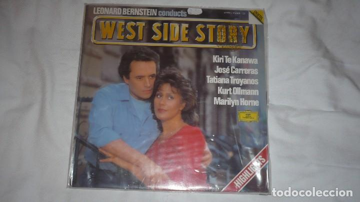 WEST SIDE STORY JOSÉ CARRERAS LEONARD BERNSTEIN (Música - Discos de Vinilo - Maxi Singles - Bandas Sonoras y Actores)