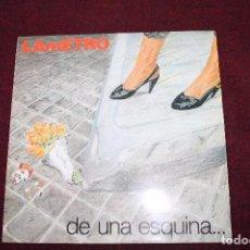 Discos de vinilo: FUNDA DE DISCO LP -LAMETRO-DE UNA ESQUINA. Lote 76049011