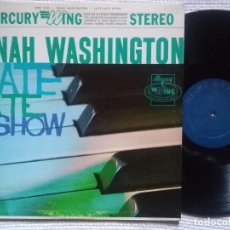 Discos de vinilo: DINAH WASHINGTON - '' LATE LATE SHOW '' LP ORIGINAL 1963 USA. Lote 76064035