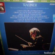 Discos de vinilo: DOBLE DISCO DE VINILO. WAGNER. OBERTURAS, PRELUDIOS Y FRAGMENTOS SINFONICOS DE SUS OPORAS. Lote 76074219