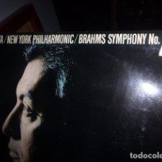 Discos de vinilo: ZUBIN MEHTA / NEW YORK PHILARMONIC / BRAHMS SYMPHONIC NO. 4 DISCO DE VINILO. . Lote 76082287