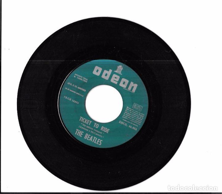 Discos de vinilo: SINGLE. THE BEATLES. TICKET TO RIDE. YES IT IS. LENNON Y MCCARTNEY. - Foto 4 - 58106509