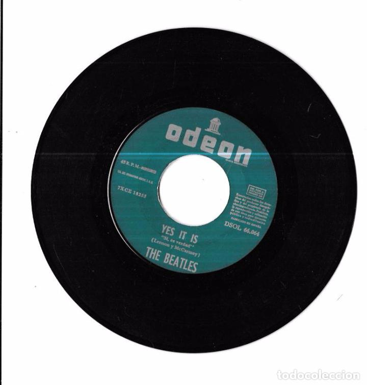 Discos de vinilo: SINGLE. THE BEATLES. TICKET TO RIDE. YES IT IS. LENNON Y MCCARTNEY. - Foto 5 - 58106509