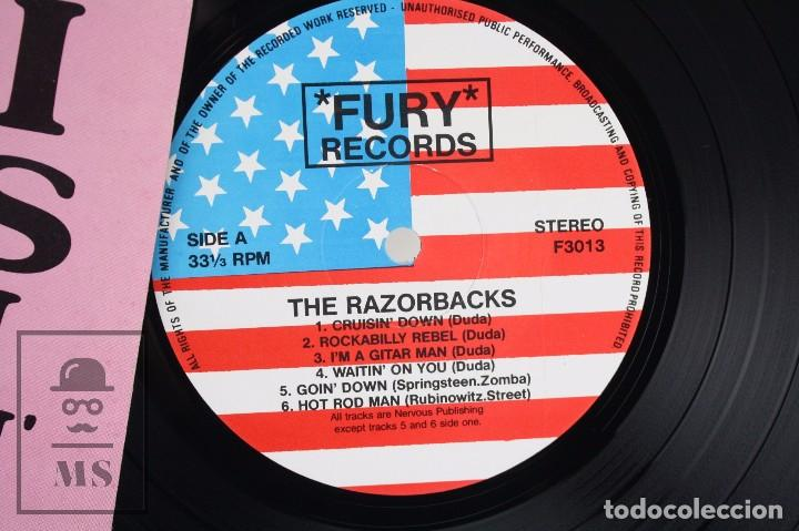 Discos de vinilo: Disco LP de Vinilo - The Razorbacks. Cruisin Down - Fury Records, 1990 - Foto 2 - 76092099