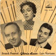 Discos de vinilo: FRANCK POURCEL - GLORIA LASSO - LUIS MARIANO - CANASTOS - EP. Lote 76115355