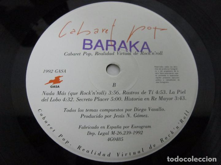 Discos de vinilo: CABARET POP - REALIDAD VIRTUAL DE ROCK N ROLL - LP - GASA 1992 LOS DARTON CON LETRAS - Foto 2 - 76120419