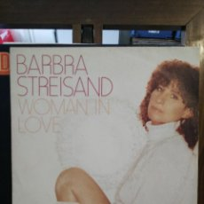 Discos de vinilo: BARBRA STREISAND - WOMAN IN LOVE / RUN WILD - SINGLE. Lote 76130179