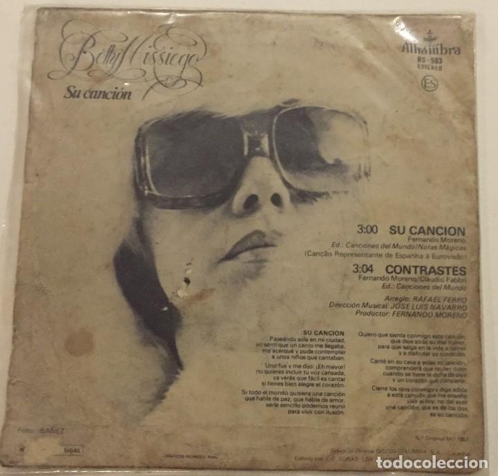 Discos de vinilo: Betty Missiego - Su canción - Foto 2 - 76143307