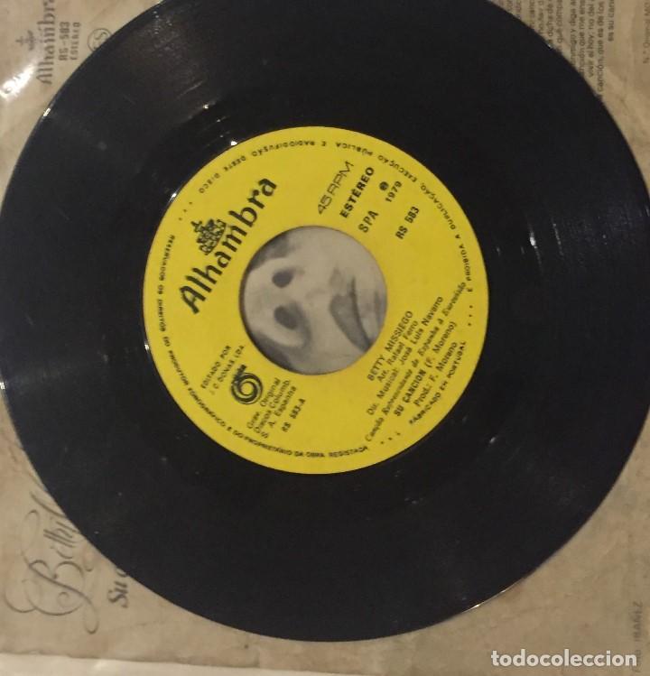 Discos de vinilo: Betty Missiego - Su canción - Foto 3 - 76143307