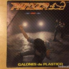 Discos de vinilo: PANZER: GALONES DE PLÁSTICO / SUBE UN ESCALÓN (CHAPA-SERDISCO 1983). Lote 76151641
