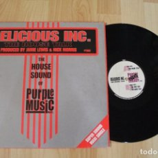 Discos de vinilo: DELICIOUS INC. THE HOUSE TALK THE HOUSE SOUND OF PURPLE MUSIC MAXI SINGLE. Lote 76179311