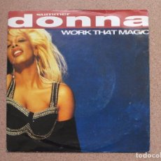 Discos de vinilo: DONNA SUMMER - WORK THAT MAGIC + LET THERE BE PEACE. Lote 76183267
