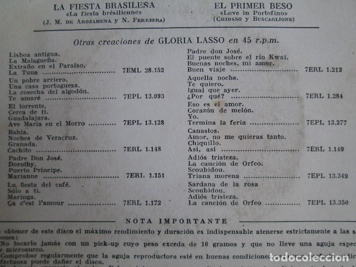 Discos de vinilo: GLORIA LASSO. DISCO VINILO. DISCOGRAFICA LA VOZ DE SU AMO, 1959. DISCO VINILO. VER FOTOGRAFIAS - Foto 5 - 76184587