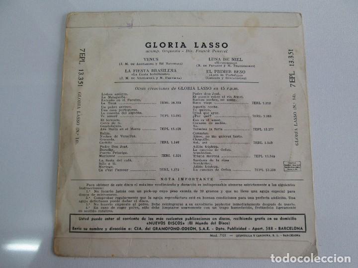 Discos de vinilo: GLORIA LASSO. DISCO VINILO. DISCOGRAFICA LA VOZ DE SU AMO, 1959. DISCO VINILO. VER FOTOGRAFIAS - Foto 6 - 76184587