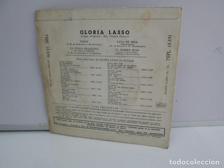 Discos de vinilo: GLORIA LASSO. DISCO VINILO. DISCOGRAFICA LA VOZ DE SU AMO, 1959. DISCO VINILO. VER FOTOGRAFIAS - Foto 7 - 76184587