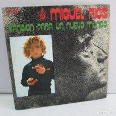Discos de vinilo: MIGUEL RIOS. CANCION PARA UN NUEVO MUNDO. DISCO VINILO. VER FOTOGRAFIAS ADJUNTAS. Lote 76184867