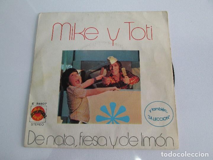 Discos de vinilo: MIKE Y TOTI. DE NATA, FRESA Y DE LIMON. DISCO VINILO. VER FOTOGRAFIAS ADJUNTAS - Foto 2 - 76187035