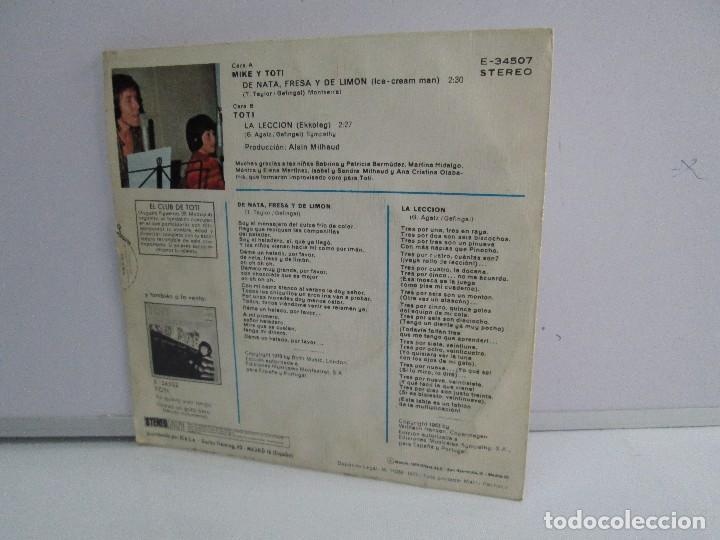 Discos de vinilo: MIKE Y TOTI. DE NATA, FRESA Y DE LIMON. DISCO VINILO. VER FOTOGRAFIAS ADJUNTAS - Foto 7 - 76187035