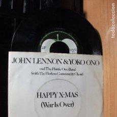 Discos de vinilo: JOHN LENNON & YOKO ONO HAPPY X-MAS (WAR IS OVER) SINGLE HOLANDA PDELUXE. Lote 76191943