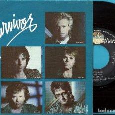 Discos de vinilo: SURVIVOR: IS THIS LOVE? / CAN´T LET YOU GO. Lote 110047007