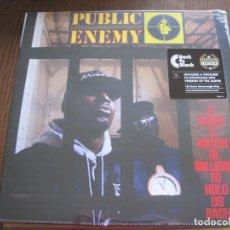 Discos de vinilo: PUBLIC ENEMY - IT TAKES A NATION OF MILLIONS TO HOLD US BACK (1988) - LP REEDICIÓN DEF JAM NUEVO. Lote 76206027