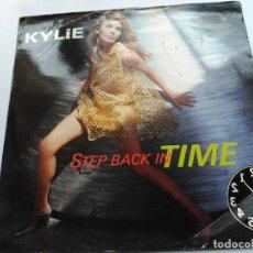 Discos de vinilo: SINGLE KYLIE MINOGUE - STEP BACK IN TIME - PWL UK 1990 VG/VG+. Lote 76213335