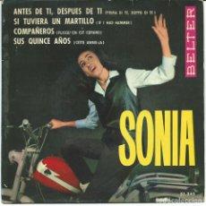 Discos de vinil: SONIA - ANTES DE TI, DESPUES DE TI + 3 (EP DE 4 CANCIONES) BELTER 1964 - VG+/VG+. Lote 76218091