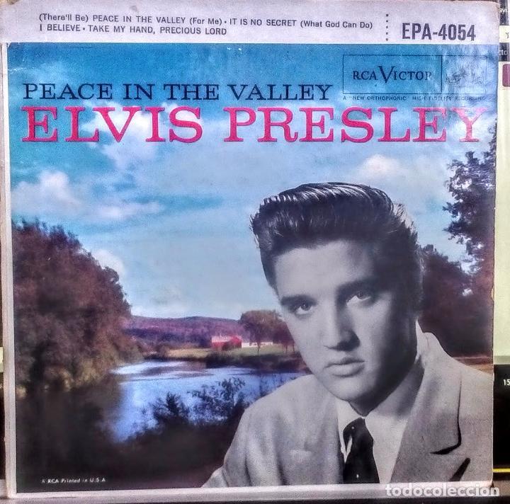Discos de vinilo: ELVIS PRESLEY - PEACE IN THE VALLEY (ORIGINAL USA 1958) (EPA-4054) - Foto 2 - 76237395