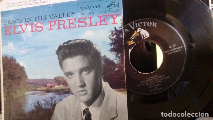 Discos de vinilo: ELVIS PRESLEY - PEACE IN THE VALLEY (ORIGINAL USA 1958) (EPA-4054) - Foto 4 - 76237395