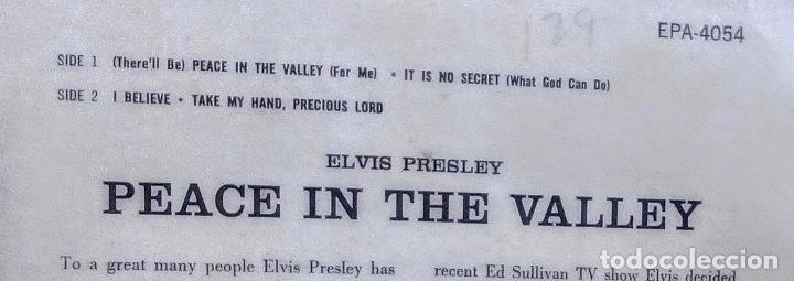 Discos de vinilo: ELVIS PRESLEY - PEACE IN THE VALLEY (ORIGINAL USA 1958) (EPA-4054) - Foto 6 - 76237395