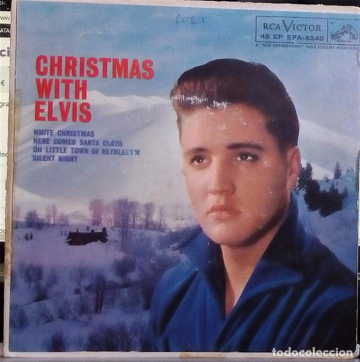 ELVIS PRESLEY - CHRISTMAS WITH ELVIS (ORIGINAL USA) (EPA-4340) (Música - Discos de Vinilo - EPs - Otros estilos)