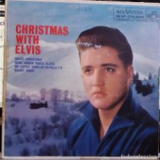 Discos de vinilo: ELVIS PRESLEY - CHRISTMAS WITH ELVIS (ORIGINAL USA) (EPA-4340). Lote 76247847