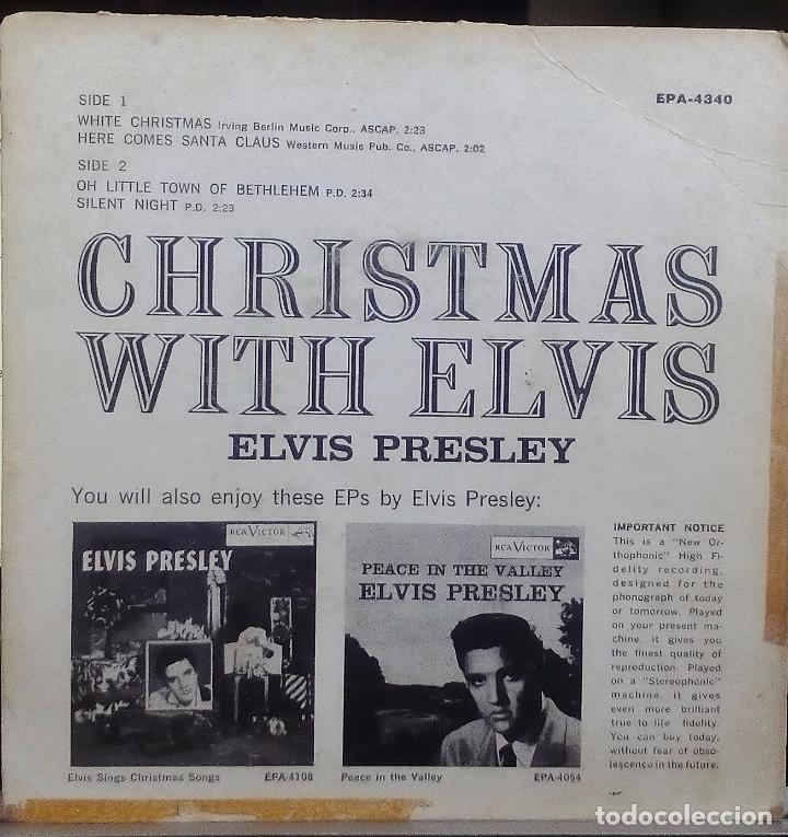 Discos de vinilo: ELVIS PRESLEY - CHRISTMAS WITH ELVIS (ORIGINAL USA) (EPA-4340) - Foto 2 - 76247847