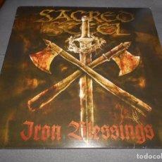 Discos de vinilo: SACRED STEEL --- IRON BLESSING // LETRAS DE CANCIONES // BUENO. Lote 76294359