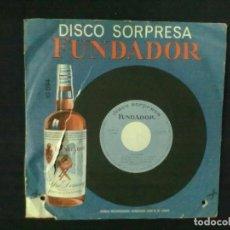 Discos de vinilo: DISCO SORPRESA FUNDADOR FOLKLORE ESPAÑOL BOLERO MALLORQUIN REDOBLE EXTREMEÑO JOTA DE YECLA FOLIAS CA. Lote 76297911