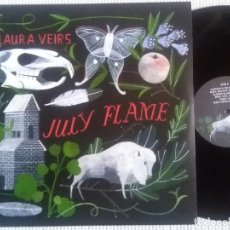 Discos de vinilo: LAURA VEIRS - '' JULY FLAME '' LP + LINK + INNER ORIGINAL 2009 EU BELLA UNION. Lote 43103195